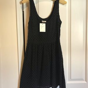 Nwt  , Joie black lace fit and flare dress